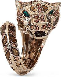 Roberto Cavalli | Metallic Swarovski Crystal Panther Ring | Lyst