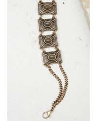 Forever 21 - Metallic Faux Stone Choker - Lyst