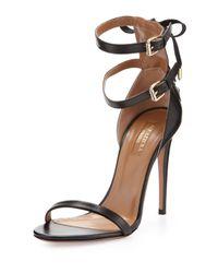 Aquazzura - Saharienne Doublestrap Sandal Black - Lyst