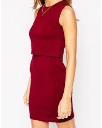 ASOS - Purple Exclusive Sleeveless Crop Top Bodycon Dress - Lyst