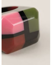 Marni | Multicolor Chunky Colour Block Ring | Lyst