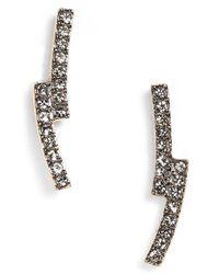 Nadri - Metallic Curve Stud Earrings - Lyst