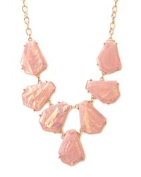 Forever 21 - Metallic Be Seen Iridescent Bib Necklace - Lyst