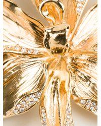Emanuel Ungaro - Metallic Flower Pendant Necklace - Lyst