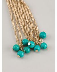 Aurelie Bidermann - Green Hanging Pendant Earrings - Lyst