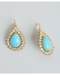 Ben-Amun - Blue Turquoise And Crystal Drop Earring - Lyst