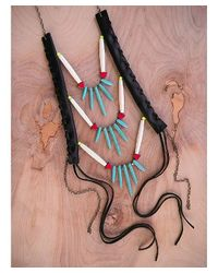 Love Leather - Multicolor Point It Out Necklace - Lyst
