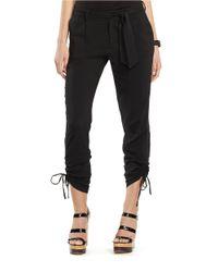 Lauren by Ralph Lauren | Black Petite Poplin Skinny Pants | Lyst