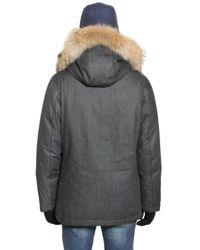 Woolrich - Blue Techno Denim Arctic Anorak for Men - Lyst