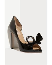 Valentino | Black Couture Bow D'orsay Pump | Lyst