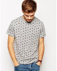 Jack Wills - Gray T-Shirt with Origami Pheasant Print for Men - Lyst
