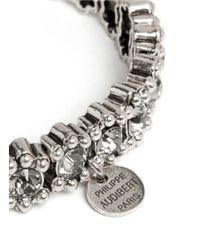 Philippe Audibert - Metallic New Amelia Bead And Crystal Embellished Elasticated Bracelet - Lyst