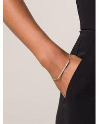 Ileana Makri | Metallic Diamond Bar Bracelet | Lyst