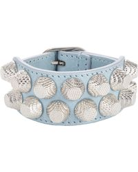Balenciaga - Blue Arena Two Row Giant Bracelet-Colorless - Lyst