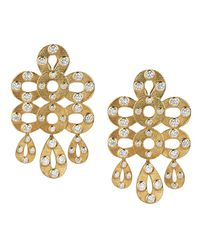 Asha | Edie Chandelier Earrings, White Topaz | Lyst