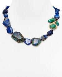 Alexis Bittar - Blue Single Strand Chrysocolla Lapis Necklace 18 - Lyst