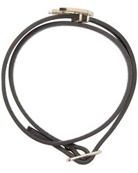 McQ - Black Leather Swallow Charm Bracelet - Lyst