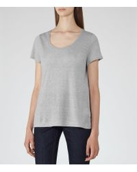 Reiss - Gray Marty Scoop-neck T-shirt - Lyst