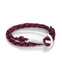 Miansai | Purple Modern Anchor Maritime Rope Wrap Bracelet | Lyst
