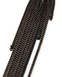 Ann Demeulemeester | Black Hanging Chain Earring | Lyst