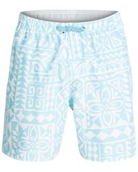 Quiksilver | Blue Waterman Starbird Printed Board Shorts for Men | Lyst