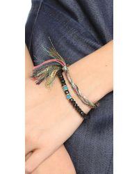Shashi - Green Glaiza Braid Bracelet - Lyst