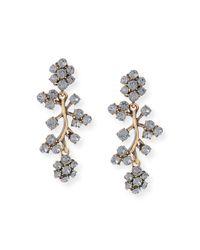 Oscar de la Renta | Black Crystal Branch Drop Clip Earrings | Lyst