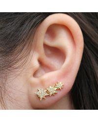 Anne Sisteron | 14kt Yellow Gold Diamond Stars Ear Cuff | Lyst