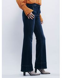 Free People | Blue From Every Angle Hi Waisted Bell | Lyst