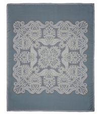 Lanvin - Blue Large Teal Paisley Silk Scarf for Men - Lyst