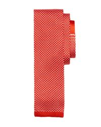 Brooks Brothers | Orange Bird's-eye Knit Tie for Men | Lyst