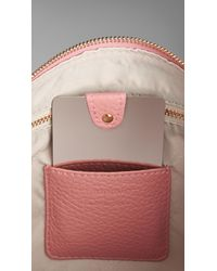 Burberry - Pink Large Leather Beauty Wallet With Mirror - Lyst