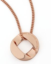 Marc By Marc Jacobs | Pink Cable Link-pendant Necklace Rose Golden | Lyst
