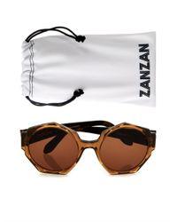 Zanzan - Brown Ortolan Geometric-Frame Sunglasses - Lyst