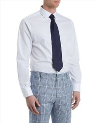 Jaeger - Blue Prince Of Wales Trousers for Men - Lyst