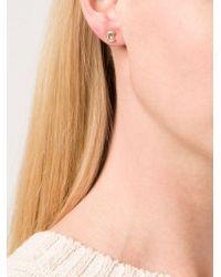 Marie-hélène De Taillac   Blue Aquamarine Crescent Moon Earrings   Lyst