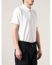 Emporio Armani - White Logo Polo Shirt for Men - Lyst