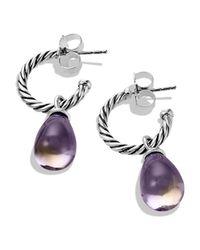 David Yurman - Metallic Color Classics Bead Drop Earrings With Lavendar Moon Quartz - Lyst