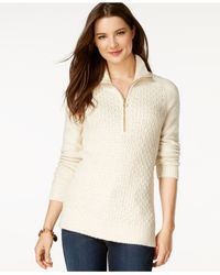 Tommy Hilfiger | Natural Half-zip Pullover Sweater | Lyst