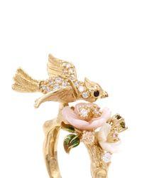Anabela Chan | Metallic 'Mini Swallow' 18K Gold Diamond Pavé Ring | Lyst