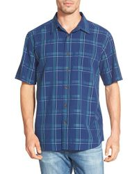 Quiksilver | Blue Waterman Collection 'york Harbor' Regular Fit Plaid Sport Shirt for Men | Lyst