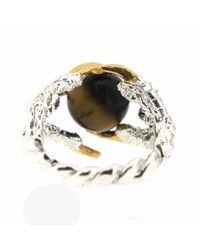 Tessa Metcalfe   Metallic Pearl Of London With Tigers Eye   Lyst