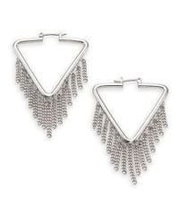 Marc By Marc Jacobs - Metallic Beat It Pointer Fringe Hoop Earrings - Lyst