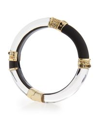 Alexis Bittar - Black Lucite Colorblock Hinge Bracelet - Lyst