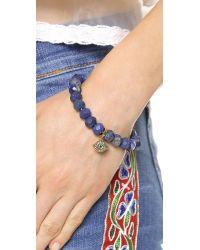 Juicy Couture - Blue Pave Color Crush Genuine Beaded Bracelet Lapis - Lyst