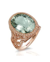 Effy | 14k Rose Gold Green Amethyst And Diamond Ring | Lyst