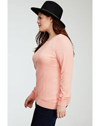 Forever 21 | Pink Plus Size Crew Neck Sweater | Lyst
