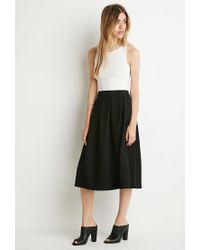 Forever 21 | Black Box Pleat A-line Skirt | Lyst