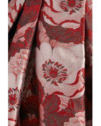 Temperley London | Red Rosa Floral-jacquard Dress | Lyst
