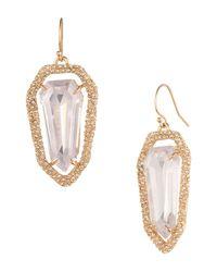 Alexis Bittar | Purple Miss Havisham Encrusted Shield Drop Earrings | Lyst